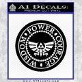Zelda Power Courage Wisdom Triforce Decal Sticker Black Vinyl 120x120