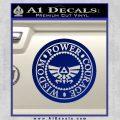 Zelda Power Courage Wisdom Triforce Decal Sticker Blue Vinyl 120x120