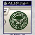 Zelda Power Courage Wisdom Triforce Decal Sticker Dark Green Vinyl 120x120