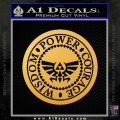 Zelda Power Courage Wisdom Triforce Decal Sticker Gold Vinyl 120x120
