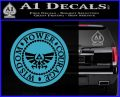 Zelda Power Courage Wisdom Triforce Decal Sticker Light Blue Vinyl 120x97