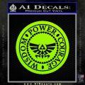 Zelda Power Courage Wisdom Triforce Decal Sticker Lime Green Vinyl 120x120