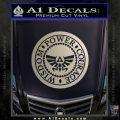 Zelda Power Courage Wisdom Triforce Decal Sticker Metallic Silver Emblem 120x120