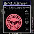 Zelda Power Courage Wisdom Triforce Decal Sticker Pink Emblem 120x120