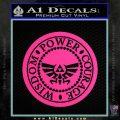 Zelda Power Courage Wisdom Triforce Decal Sticker Pink Hot Vinyl 120x120