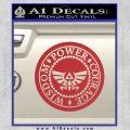Zelda Power Courage Wisdom Triforce Decal Sticker Red 120x120