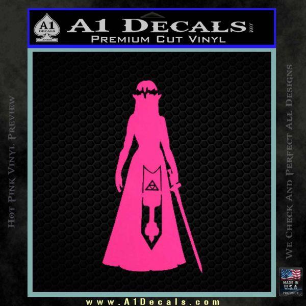 Zelda Princess D1 Decal Sticker Pink Hot Vinyl