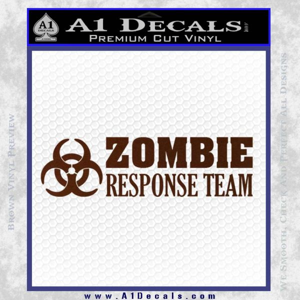 Zombie Response Team Decal Sticker 187 A1 Decals
