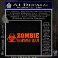 Zombie Response Team Decal Sticker Orange Emblem 120x120