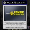 Zombie Response Team Decal Sticker Yellow Laptop 120x120