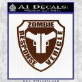 Zombie Response Vehicle Badge Decal Sticker BROWN Vinyl 120x120