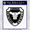 Zombie Response Vehicle Badge Decal Sticker Black Vinyl 120x120