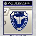 Zombie Response Vehicle Badge Decal Sticker Blue Vinyl 120x120