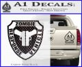 Zombie Response Vehicle Badge Decal Sticker Carbon FIber Black Vinyl 120x97