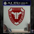 Zombie Response Vehicle Badge Decal Sticker DRD Vinyl 120x120