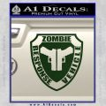 Zombie Response Vehicle Badge Decal Sticker Dark Green Vinyl 120x120