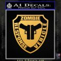 Zombie Response Vehicle Badge Decal Sticker Gold Vinyl 120x120