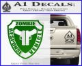 Zombie Response Vehicle Badge Decal Sticker Green Vinyl Logo 120x97