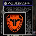 Zombie Response Vehicle Badge Decal Sticker Orange Emblem 120x120