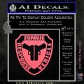 Zombie Response Vehicle Badge Decal Sticker Pink Emblem 120x120