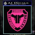 Zombie Response Vehicle Badge Decal Sticker Pink Hot Vinyl 120x120