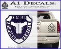 Zombie Response Vehicle Badge Decal Sticker PurpleEmblem Logo 120x97