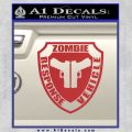 Zombie Response Vehicle Badge Decal Sticker Red 120x120