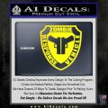 Zombie Response Vehicle Badge Decal Sticker Yellow Laptop 120x120