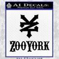 Zoo York Decal Sticker Full Black Vinyl 120x120