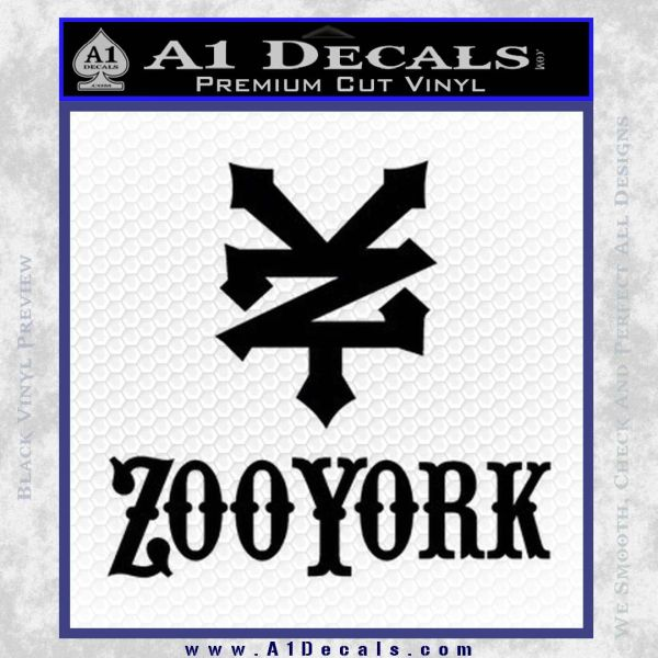 Zoo york decal sticker full black vinyl
