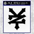Zoo York Decal Sticker ZY Black Vinyl 120x120