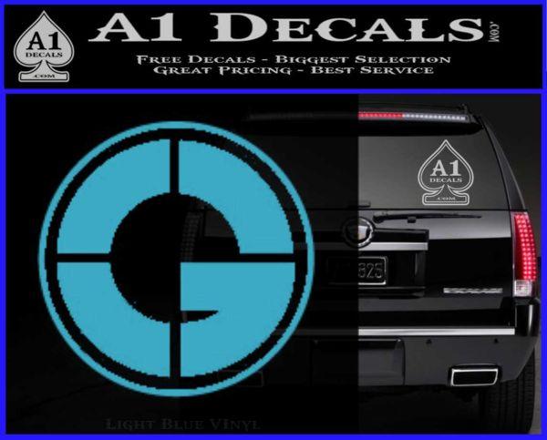 Bumper 120x120 50 cent g unit decal sticker cr light blue vinyl 120x97