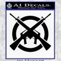 AR 15s Crossed Circle AK 47 Decal Sticker Black Vinyl 120x120