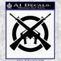 AR 15s Crossed Circle AK 47 Decal Sticker Black Vinyl 120x120