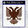 Albanian Eagle Flag Emblem Logo D1 Decal Sticker BROWN Vinyl 120x120