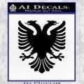 Albanian Eagle Flag Emblem Logo D1 Decal Sticker Black Vinyl 120x120