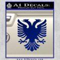 Albanian Eagle Flag Emblem Logo D1 Decal Sticker Blue Vinyl 120x120