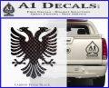 Albanian Eagle Flag Emblem Logo D1 Decal Sticker Carbon FIber Black Vinyl 120x97