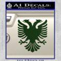 Albanian Eagle Flag Emblem Logo D1 Decal Sticker Dark Green Vinyl 120x120