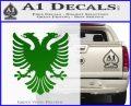 Albanian Eagle Flag Emblem Logo D1 Decal Sticker Green Vinyl Logo 120x97