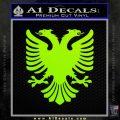 Albanian Eagle Flag Emblem Logo D1 Decal Sticker Lime Green Vinyl 120x120