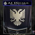 Albanian Eagle Flag Emblem Logo D1 Decal Sticker Metallic Silver Emblem 120x120