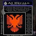 Albanian Eagle Flag Emblem Logo D1 Decal Sticker Orange Emblem 120x120
