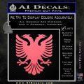 Albanian Eagle Flag Emblem Logo D1 Decal Sticker Pink Emblem 120x120