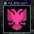 Albanian Eagle Flag Emblem Logo D1 Decal Sticker Pink Hot Vinyl 120x120