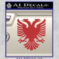 Albanian Eagle Flag Emblem Logo D1 Decal Sticker Red 120x120