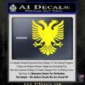 Albanian Eagle Flag Emblem Logo D1 Decal Sticker Yellow Laptop 120x120