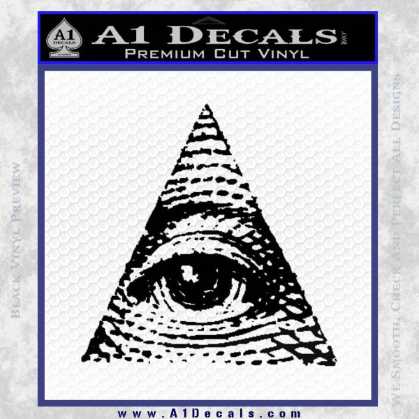 All Seeing Eye Decal Sticker Black Vinyl
