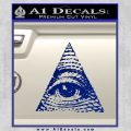 All Seeing Eye Decal Sticker Blue Vinyl 120x120