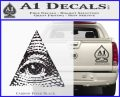 All Seeing Eye Decal Sticker Carbon FIber Black Vinyl 120x97